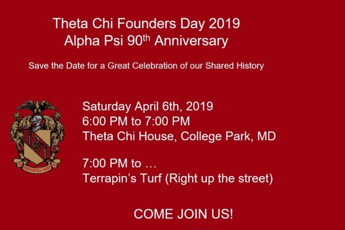 Theta Chi – Alpha Psi Chapter At University Of Maryland